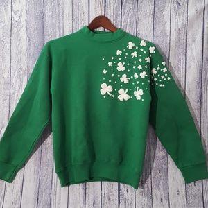 Vintage St. Patrick's Green/WhiteClover Sweatshirt